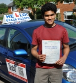 Driving lessons in Stevenage testimonials